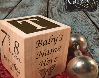 Baby Gift Personalized Block For Baby Boy Or Baby Girl Gift Keepsake Block Personalized Baby Gift Unique Baby Gift Baby Boy Baby Girl Blocks