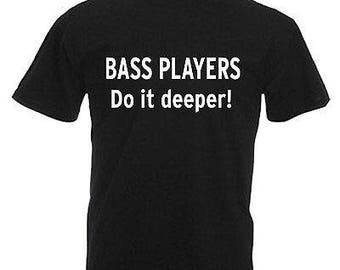 Bass player guitarist children's kids t shirt