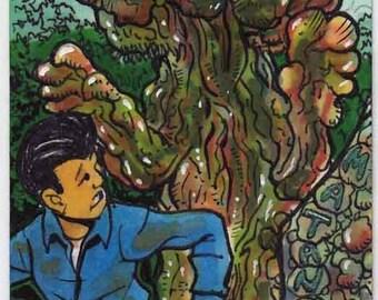 Matango Personal Sketch Card Original Artwork Collectors Item Gift Item Giant Monsters