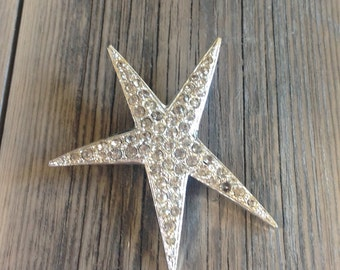 Vintage Celebrity rhinestone star brooch