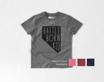 Battle Born Kid and Baby, Nevada, Toddler, Kid Graphic T-shirt or baby bodysuit (onesie)