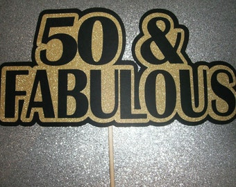 DIY - 50th Birthday Photo Booth Props 50th Birthday Glitter Paper Gold Sparkle (2125D)