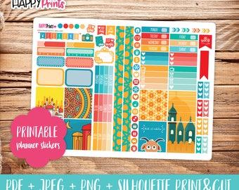 Eid Printable Personal Planner Stickers.