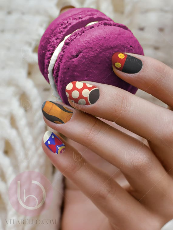 Mickey And Minnie Nail Decal Waterslide Nail Design Nails
