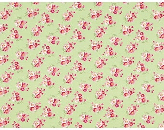 Green Cherry Blossom Fabric Collection  by Tanya Whelan Rosey  PWTW065-green