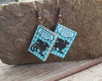 Magical Creatures Volume 1 Harry Potter Miniature Book Charm Earrings - Gifts for Girls - Book Lover - Teacher jewelry