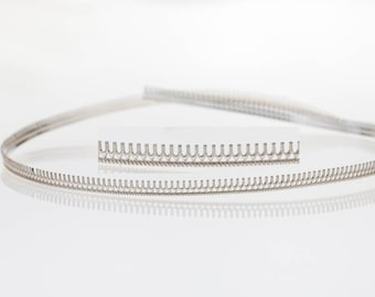 12 Inch (30.5cm) x 3.2mm Width Sterling Silver 935 Strip Gallery Decorative Ribbon, Pattern wire (C000105)