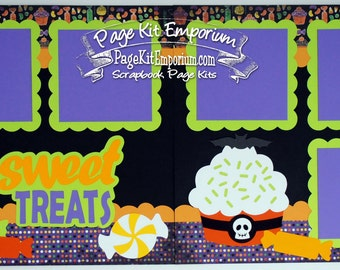 Scrapbook Page Kit Halloween Sweet Treats Boy Girl 2 page Scrapbook Layout 66