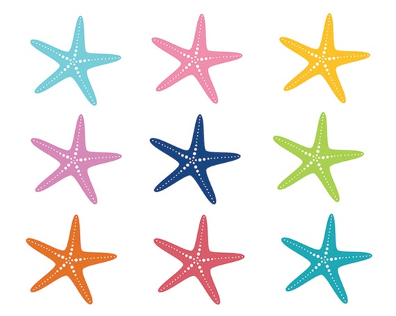 60 off sale nautical clipart starfish clip art sea ocean fish rh etsy com free starfish clipart images starfish clipart images