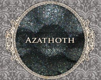 AZATHOTH Sparkle Eyeshadow: Samples or Jars, Dark Dirty Teal w/Blue Sparkle, Loose Powder Eyeshadow, VEGAN Cosmetics, Ships Out in 5-8 Days