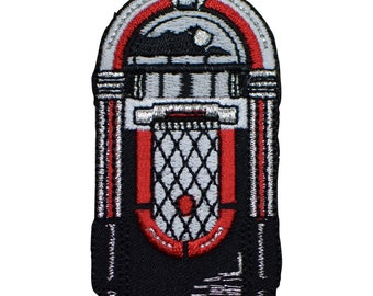 1950's Jukebox Applique Patch (Iron on)