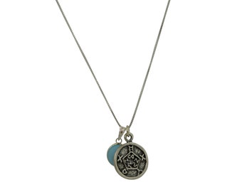 Safety and Defense Solomon Seal 925 Sterling Silver Necklace for Men & Women