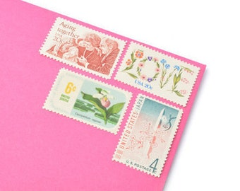 Unused Forever Love Stamp Set - Vintage Postage Stamps for your wedding, event or every day mailings! Mint!