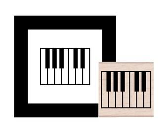 Piano Rubber Stamp