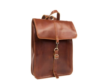 Leather Cognac Backpack