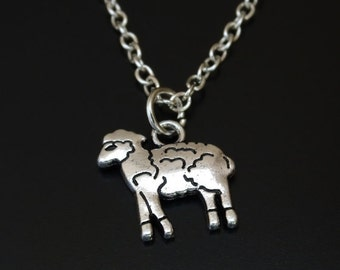 Sheep Necklace, Sheep Pendant, Sheep Charm, Sheep Jewelry, Farmer Shepherd, Shepherd Necklace, Farmers Wife, Farmers Daughter, Country Gift