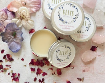 Rose Geranium Vegan Lip Balm