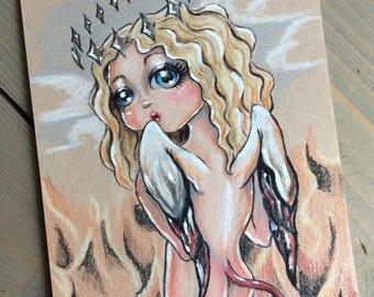 Angel and Demon original illustration