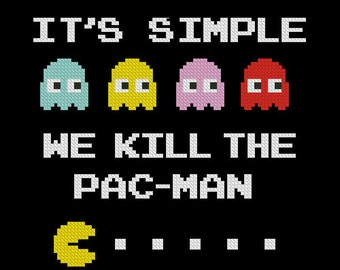 cross stitch pattern Pac-man