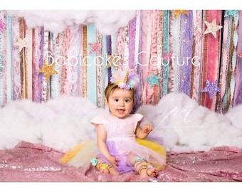 Unicorn 1st Birthday Outfit, Unicorn Cake Smash, Unicorn Headband, Unicorn Birthday Girl, Unicorn Gladiator Sandals, Unicorn Photo Prop
