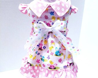 Easter Small Dog dress/Easter Pet Dress/Easter  Dress