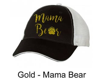 TVHS Mama Bear White & Black Trucker Hat