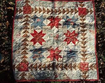 Quilt, small pieced table top or wall quilt