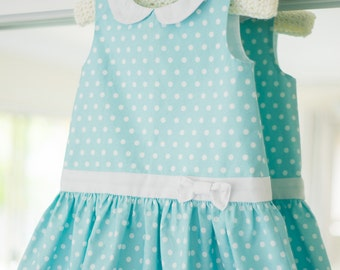 Christmas Dress PDF Pattern (sizes 12-18 months, 2 years)