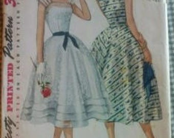 1954 Simplicity Evening Dress Pattern Size 14 Used