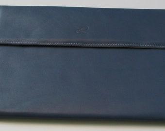 Blue leather Tablet case