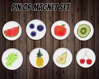 Fridge magnet   kitchen magnet   dinner gift   fruit magnet   friend gift    host gift   party gift   party favor   fruit pin