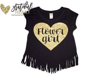 Flower Girl shirt, Flower girl gift, Bridal party shirts, Wedding shirts, Flower girl apparel, Flower girl outfit, Flower girl top