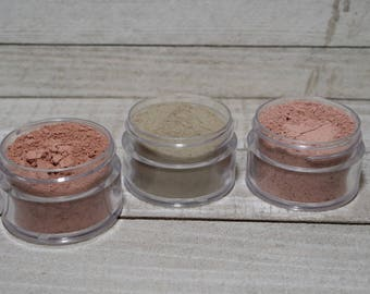 Dry Clay Mask Sampler Sets, Lavender Dry Clay Mask, Rose Dry Clay Mask, Chocolate Peppermint Dry Clay Mask, Gift for Her