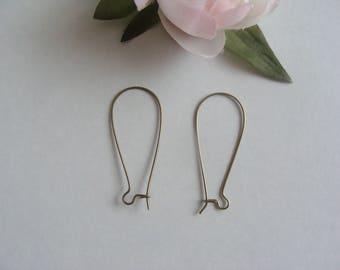 bronze 4 pairs of earring hook holder 3.5 * 1.6 cm