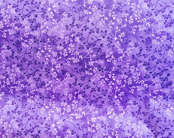 108 inch quilt back fabric, purple fabric by the yard - #17096