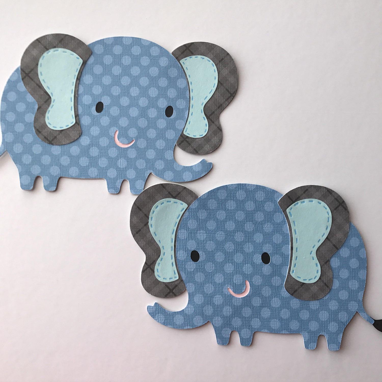 Elephant cut out elephant baby shower decor elephant cake