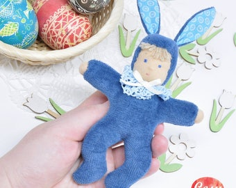 Easter Bunny textile doll