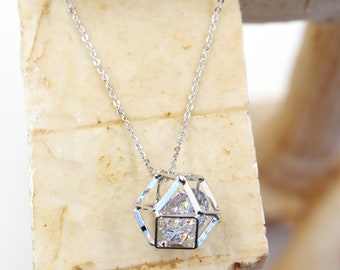 Prismatic Pendant Crystal Necklace