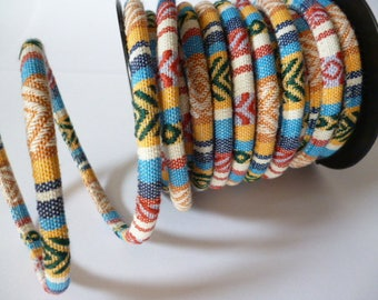 6 mm thickness Fabric Ethnic Cord_PP35132324667/CORDS_pack 1 meter_ 3/28 ft_ 1/09 yard