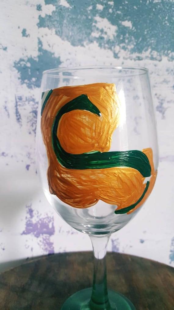 Souteastern University Wineglass, SELU wineglass, Lions Wineglass