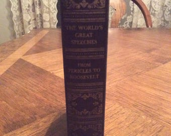 1942 The World's Great Speeches Vintage Book