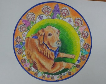 Custom Pet portraits from your photo provided// Colored Pencil or watercolor on paper