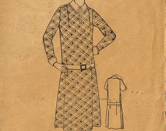 Antique UNPRINTED Pattern 393 UNBRANDED Rare Fabric Material Sewing Dress Frock Vintage 1900's Size 40 Bust