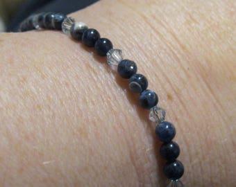 Sodalite Bracelet, Sodalite Beads, Gemstone Bracelet, Semi Precious Beads, Gem Stone Bracelet