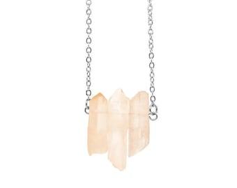 Crystal Quartz 3 Point Necklace