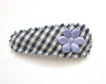 Baby Hair Clip in French Vichy & Satin