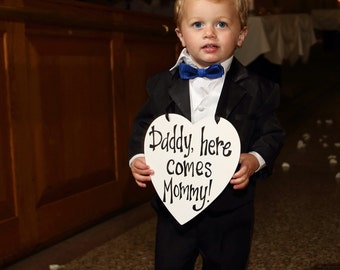 Daddy Here Comes Mommy Heart Sign - Personalize It!