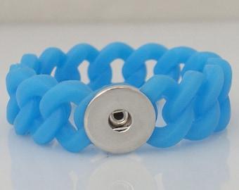 "8"" Blue Silicone Bracelet"