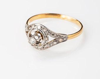 18k anello di tourbillon francese