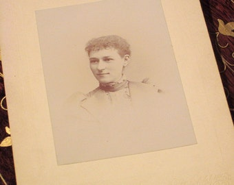 Antique Victorian Lady Cabinet Card